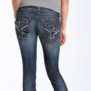 Vigoss Jeans Seattle Skinny Distressed Dark Wash